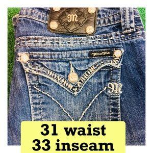 Miss Me 31W X 33L Boot Jeans denim